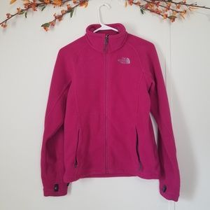 The North Face pink fleece sweater